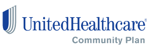 United Healthcare Community Plan logo and website link. Please click here to reach this sponsor's website.