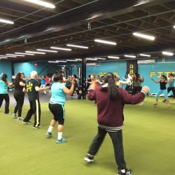 Photograph of participants during Zumbathon Charity event for the Postpartum Resource Center of New York on Friday, April 10, 2015. The event took place in West Hempstead, New York.