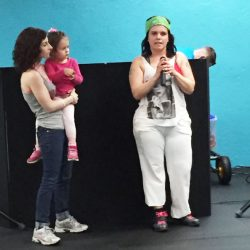 Event hosts and participants at the Zumbathon Charity event for the Postpartum Resource Center of New York on Friday, April 10, 2015. The event took place in West Hempstead, New York.