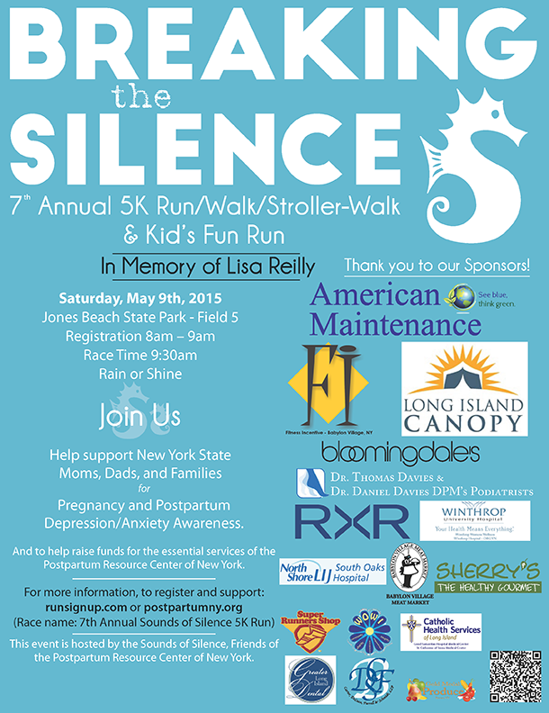 7th Annual Sounds of Silence 5k Run/Walk Event flyer and registration link.