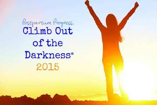 Postpartum Progress's Climb Out of Darkness 2015 event promo image and link.