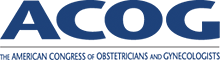 American College of Obstetricians and Gynecologists (ACOG) logo.