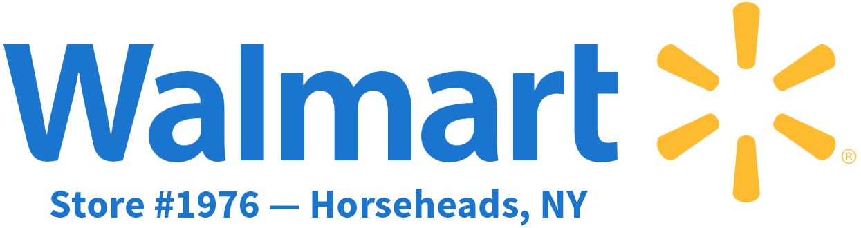 Walmart logo plus Horseheads, NY Store information.
