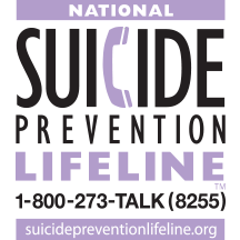 National Suicide Prevention Lifeline. Please click here to reach their website.
