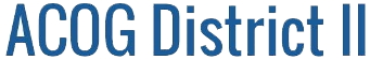 ACOG District II logo.