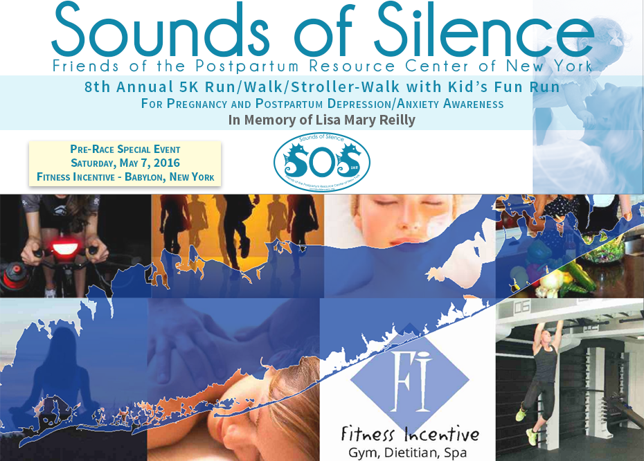 Sounds of Silence 5k Run Pre-Race Special Event at Fitness Incentive, Babylon, NY on Saturday, May 7, 2016.