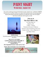 SOS Paint Night Event Flyer