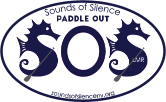 Sounds of Silence Paddle Out logo. Event takes place October 8, 2016