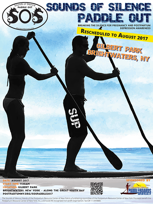Sounds of Silence Paddle Out Event poster – Rescheduled to August, 2017.
