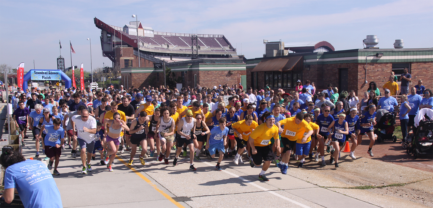 Sounds of Silence 5k Run 2016. Start of race photograph.