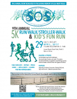 Sounds of Silence5k Run Poster