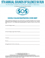 School/College RegistrationCover Sheet