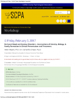 Suffolk County Psychological AssociationWorkshop & Training 2017