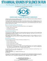School/College RegistrationPacket Cover Sheet
