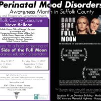 Perinatal Mood DisordersEvent Flyer 2017