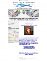 Postpartum/Perinatal Mood Disorders (PPMD)and the Role of theMental Health Practitioner