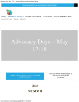 National Coalition for Maternal Mental HealthAdvocacy Days – May 17-18, 2017