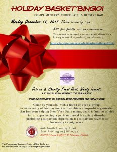 Holiday Basket Bingo 2017 Event Flyer.
