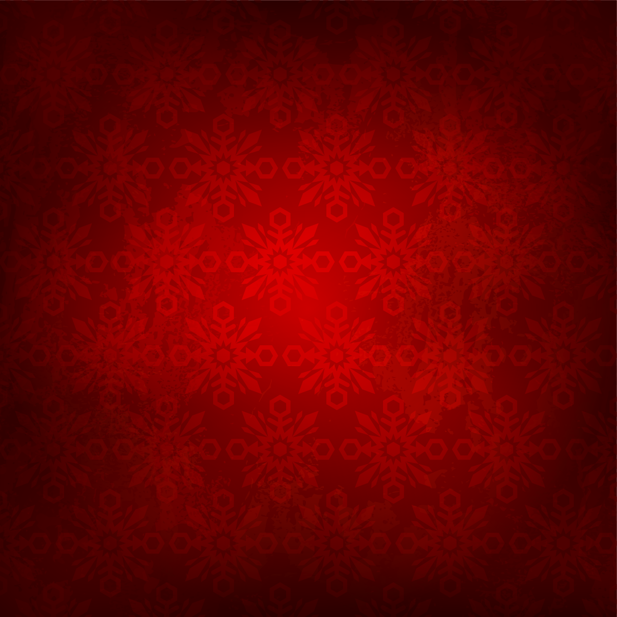 Snowflake background with red color