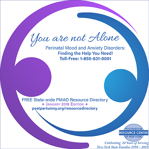 Postpartum Resource Center of New York's Free State-wide PMAD Resource Directory