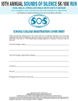 School/CollegeRegistrationCover Sheet