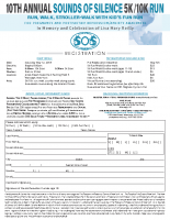 SOS 5k/10k RunIndividual StudentRegistration Form