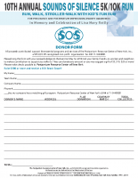 Sounds of Silence 5k/10k2018 Donation Form