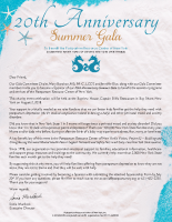 20th AnniversarySummer GalaSponsorship Form