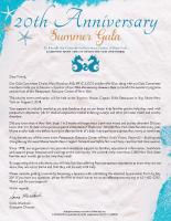20th AnniversarySummer GalaSponsorship Form