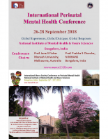 The Marcé Society for Perinatal Mental Health Biennial Conference Poster, 2018