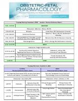 Obstetric-Fetal PharmacologyNovember 2018 Event Program