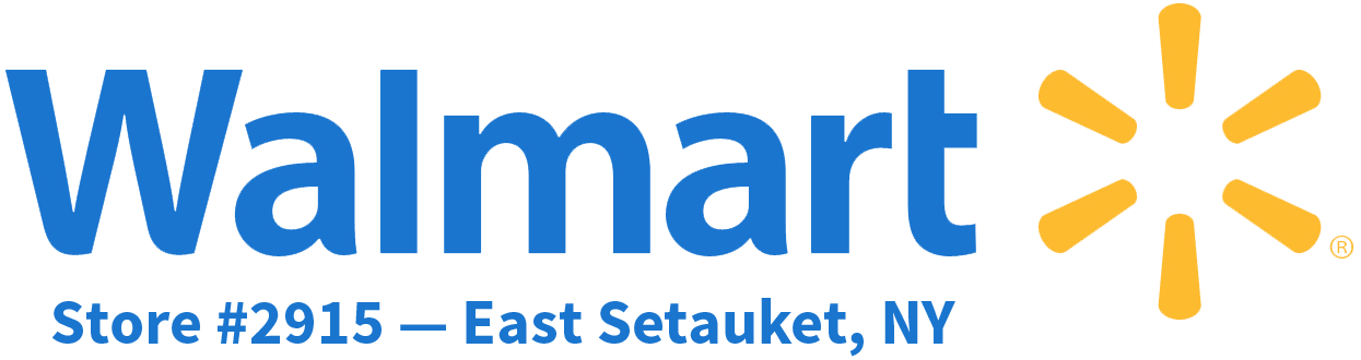 Walmart logo plus East Setauket, NY store information.