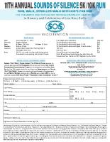 Sounds of Silence5k/10k Run-Walk 2019Registration Form