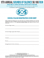 School/CollegeRegistration 2019Cover Sheet