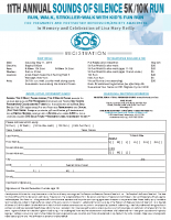 SOS 5k/10k Run-WalkIndividual StudentRegistration Form2019