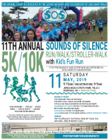 Sounds of Silence5k/10k Run-Walk 2019Poster (8.5×11)
