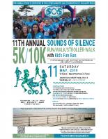 Sounds of Silence5k/10k Run-Walk 2019Poster (8.5×14)