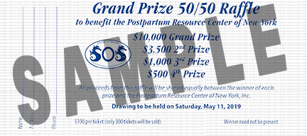 Sounds of Silence 5k/10k Grand Prize 50/50 Raffle ticket sample image.