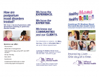 Healthy Moms, Healthy BabiesPerinatal Mental Health Clinic Brochure
