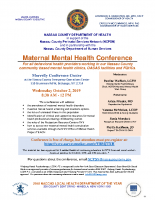 Maternal Mental Health ConferenceBethpage, New YorkOctober 2, 2019