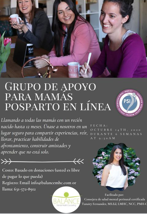 PPD Mother Group Flyer 2020Spanish