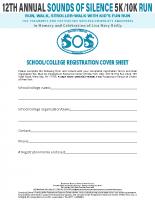 School/CollegeRegistration 2020Cover Sheet