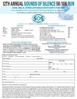 SOS 5k/10k Run-WalkIndividual StudentRegistration Form2020