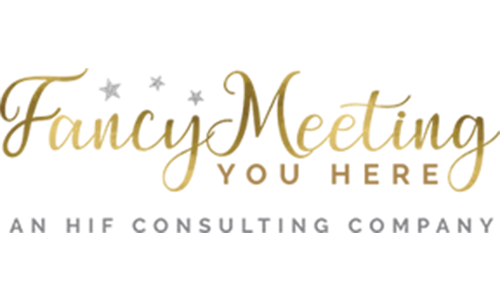 Fancy Meeting You Here logo. They are the Race Swag Bag sponsor for the 13th Annual Sounds of Silence Run/Walk. Click on link to visit them.