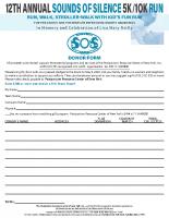 Sounds of Silence5k/10k Run-Walk2020 Donation Form