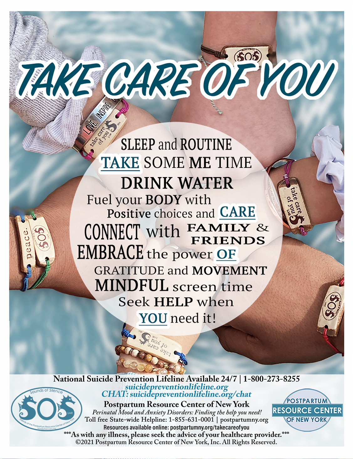 Flyer for the Take Care of You Initiative – Updated January, 2021.