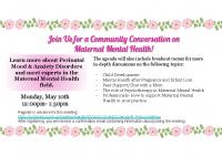 MMH Community Conversation Event Flyer