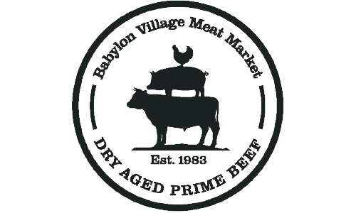 Babylon Village Meat Market logo. They are a T-shirt logo sponsor for the 13th Annual Sounds of Silence Run/Walk. Please click on their link to visit them.