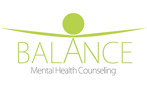 Balance Mental Health Counseling logo. They are a T-shirt logo sponsor for the 13th Annual Sounds of Silence Run/Walk. Please click on their link to visit them.