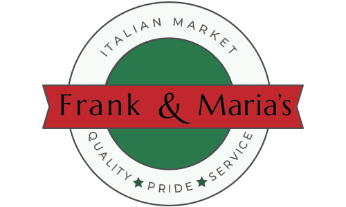 Frank and Maria's Italian Market logo. They are a T-shirt logo sponsor for the 13th Annual Sounds of Silence Run/Walk. Please click on their link to visit them.